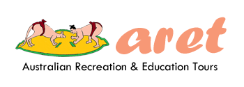 Homepage ARET Australian Recreation Educational Tours logo